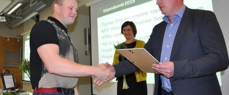 Eesti Erametsa OÜ stipendium. Foto: Tõnu Eller